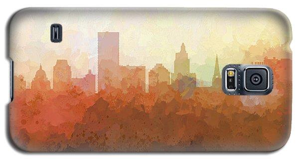Galaxy S5 Case featuring the digital art Providence Rhode Island Skyline by Marlene Watson