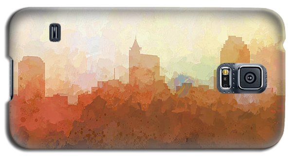 Galaxy S5 Case featuring the digital art Raleigh North Carolina Skyline by Marlene Watson