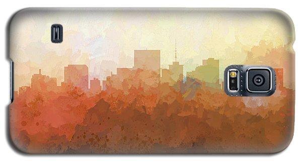 Galaxy S5 Case featuring the digital art Richmond Virginia Skyline by Marlene Watson