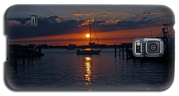 5- Sailfish Marina Sunset In Paradise Galaxy S5 Case by Joseph Keane