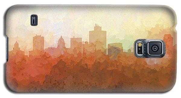 Galaxy S5 Case featuring the digital art Salt Lake City Utah Skyline by Marlene Watson