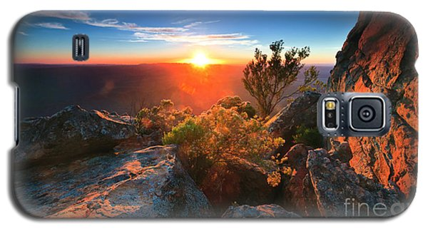 Galaxy S5 Case featuring the photograph St Mary Peak Sunrise by Bill  Robinson
