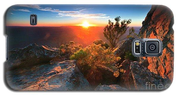 St Mary Peak Sunrise Galaxy S5 Case by Bill  Robinson