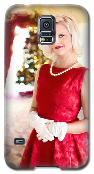 Vintage Val Home For The Holidays Galaxy S5 Case