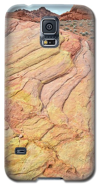 Galaxy S5 Case featuring the photograph Waves Of Color In Valley Of Fire by Ray Mathis