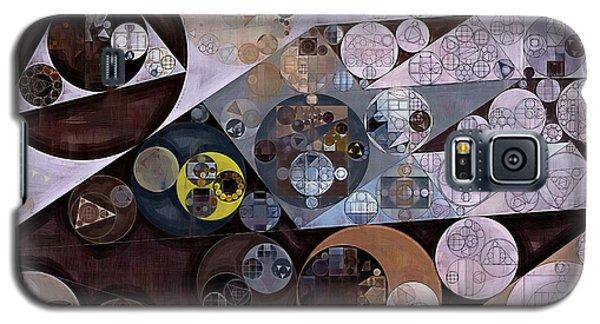 Galaxy S5 Case featuring the digital art Abstract Painting - Zinnwaldite Brown by Vitaliy Gladkiy