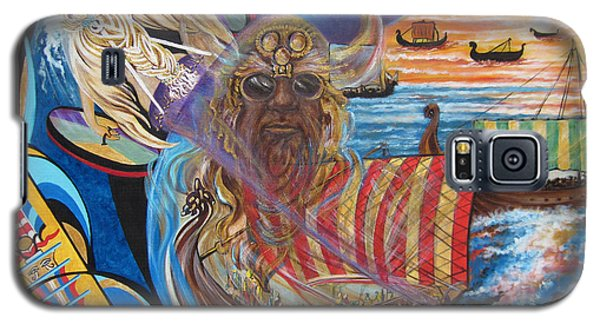 Galaxy S5 Case featuring the painting 500 Empires Never Die - Odin by Sigrid Tune