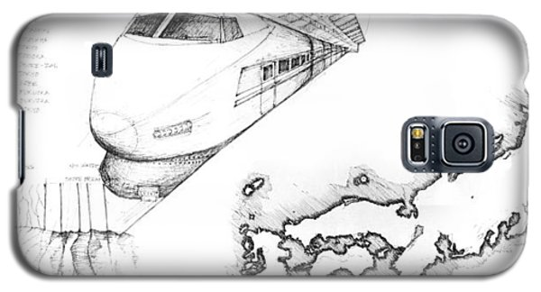5.1.japan-map-of-country-with-bullet-train Galaxy S5 Case