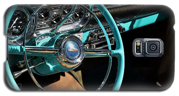 Galaxy S5 Case featuring the photograph 54 Chevy Steering Wheel by Kae Cheatham