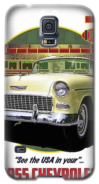 55 Chevy Galaxy S5 Case by Kenneth De Tore