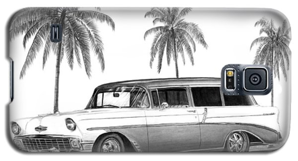 56 Chevy Wagon Galaxy S5 Case