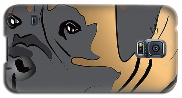 Boxer Dog Portrait Galaxy S5 Case