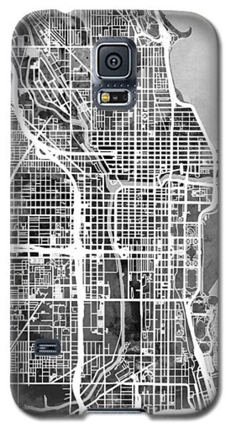 Sears Tower Galaxy S5 Case - Chicago City Street Map by Michael Tompsett