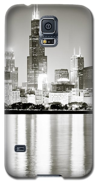 Landmarks Galaxy S5 Cases - Chicago Skyline at Night Galaxy S5 Case by Paul Velgos
