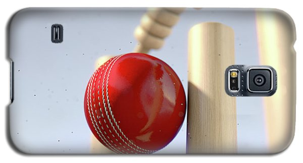 Cricket Ball Hitting Wickets Galaxy S5 Case