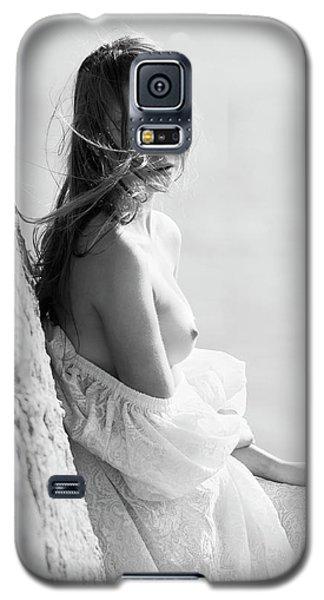 Girl In White Dress Galaxy S5 Case