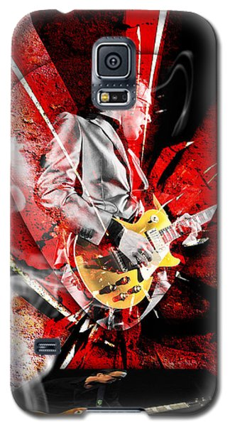 Joe Bonamassa Blues Guitarist Art. Galaxy S5 Case by Marvin Blaine