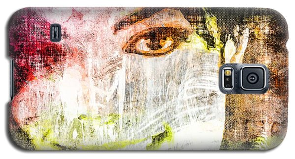 Galaxy S5 Case featuring the mixed media Michael Jackson by Svelby Art