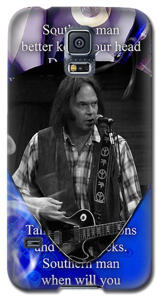 Neil Young Art Galaxy S5 Case by Marvin Blaine