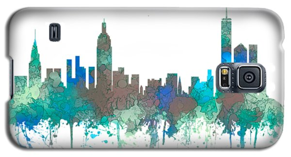 Galaxy S5 Case featuring the digital art New York Ny Skyline by Marlene Watson