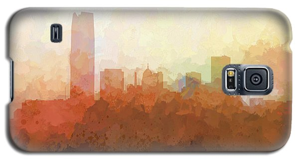 Galaxy S5 Case featuring the digital art Oklahoma City Oklahoma Skyline by Marlene Watson