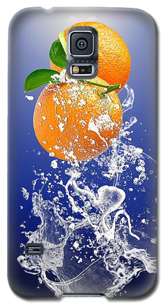 Orange Splash Galaxy S5 Case