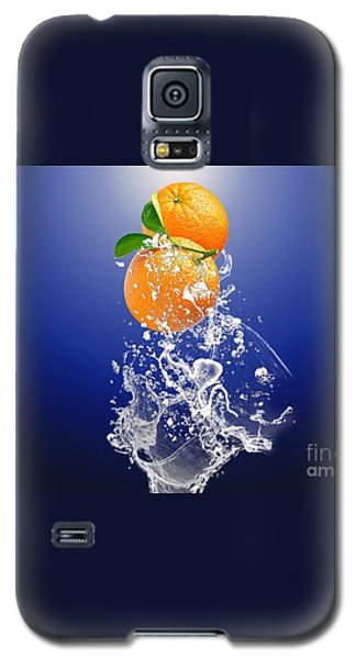 Galaxy S5 Case featuring the mixed media Orange Splash by Marvin Blaine