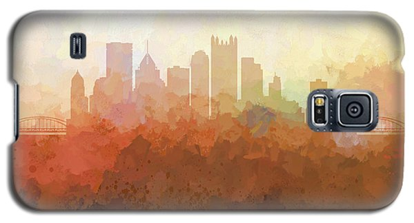 Galaxy S5 Case featuring the digital art Pittsburgh Pennsylvania Skyline by Marlene Watson