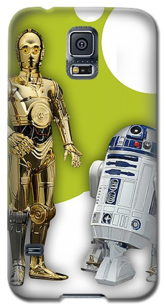 Star Wars C3po And R2d2 Collection Galaxy S5 Case by Marvin Blaine