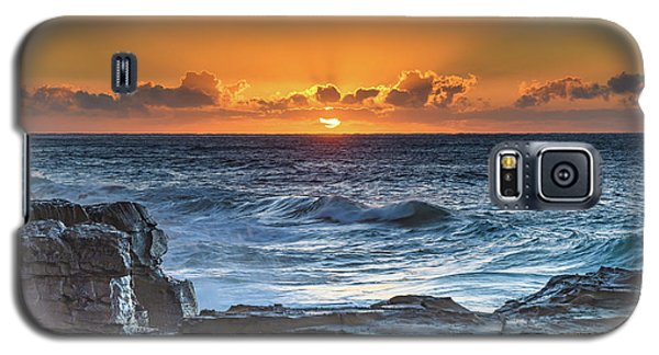 Sunrise Seascape With Sun Galaxy S5 Case
