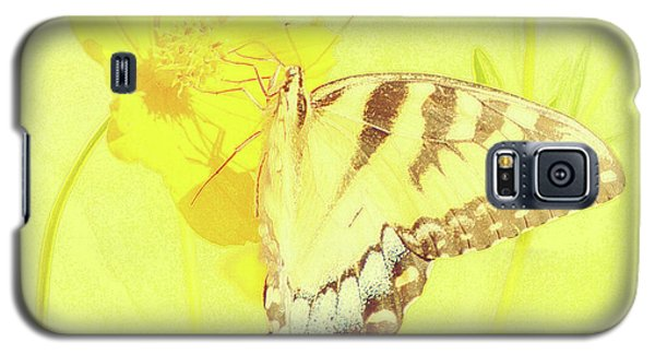 Tiger Swallowtail Butterfly On Cosmos Flower Galaxy S5 Case
