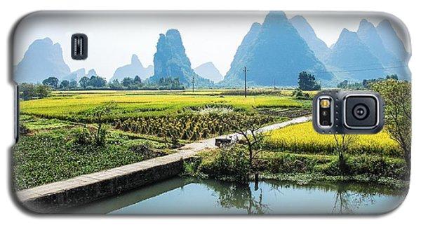Rice Fields Scenery In Autumn Galaxy S5 Case