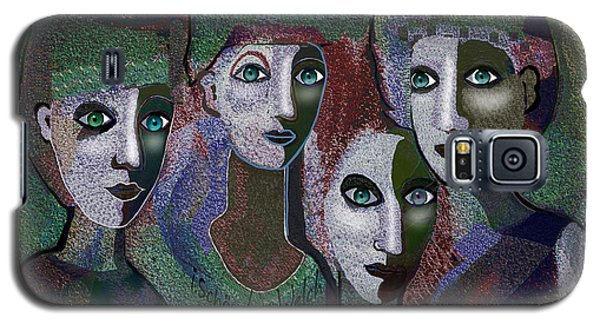 Galaxy S5 Case featuring the digital art 649 - Gauntly Ladies by Irmgard Schoendorf Welch