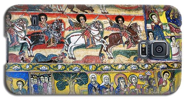 Ancient Orthodox Church Interior Painted Walls In Gondar Ethiopi Galaxy S5 Case