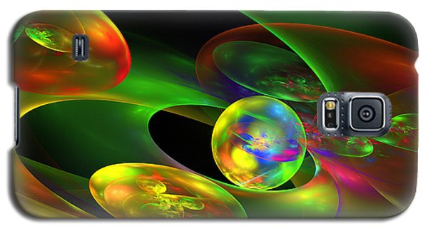 Computer Generated Planet Sphere Abstract Fractal Flame Modern Art Galaxy S5 Case by Keith Webber Jr