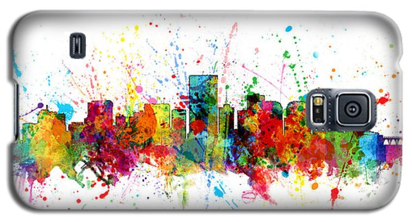 Galaxy S5 Case featuring the digital art Richmond Virginia Skyline by Michael Tompsett