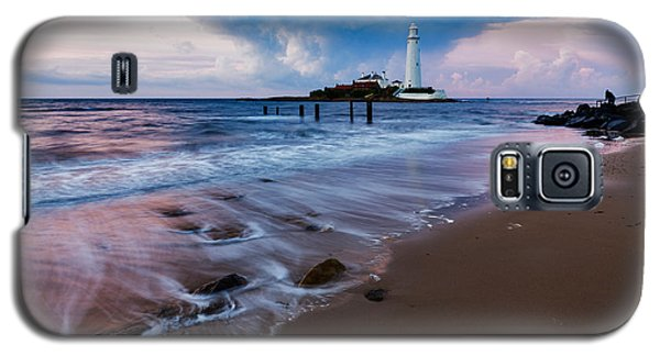 Saint Mary's Lighthouse At Whitley Bay Galaxy S5 Case by Ian Middleton