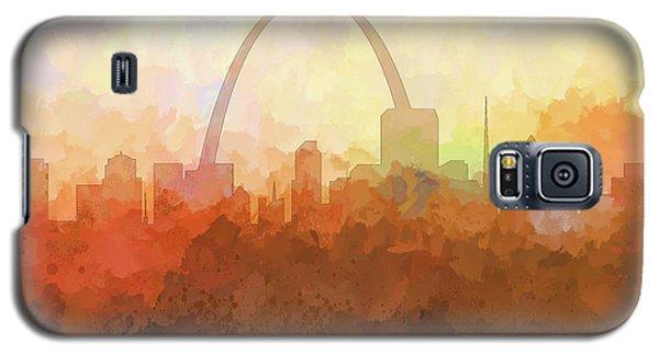 Galaxy S5 Case featuring the digital art St Louis Missouri Skyline by Marlene Watson