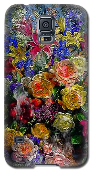 7a Abstract Floral Painting Digital Expressionism Galaxy S5 Case