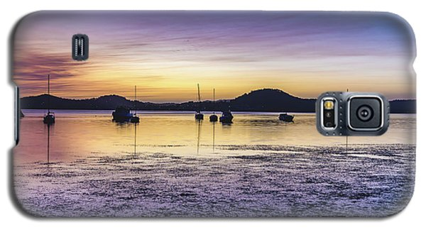 Dawn Waterscape Over The Bay With Boats Galaxy S5 Case