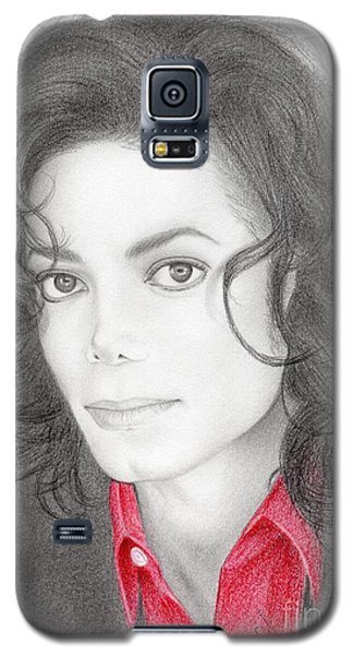 Galaxy S5 Case featuring the drawing Michael Jackson #two by Eliza Lo