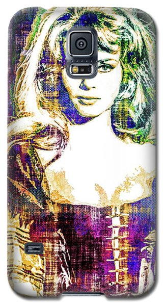 Galaxy S5 Case featuring the mixed media Michele Mercier by Svelby Art