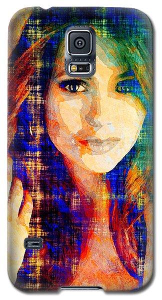 Galaxy S5 Case featuring the mixed media Nina Dobrev by Svelby Art