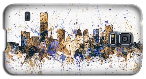 Galaxy S5 Case featuring the digital art Oklahoma City Skyline by Michael Tompsett