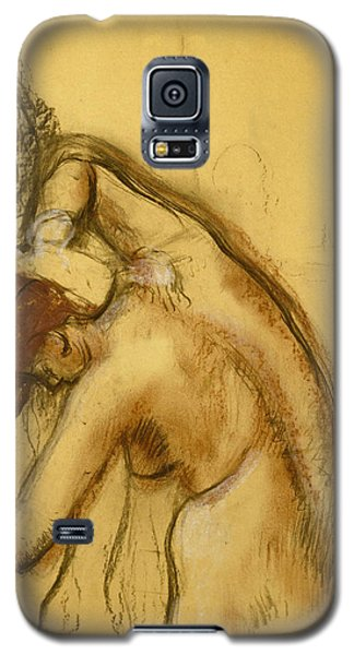 Woman Drying Herself Galaxy S5 Case by Edgar Degas