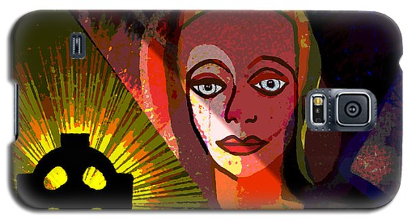 Galaxy S5 Case featuring the digital art 863 - A Celtic Cross by Irmgard Schoendorf Welch