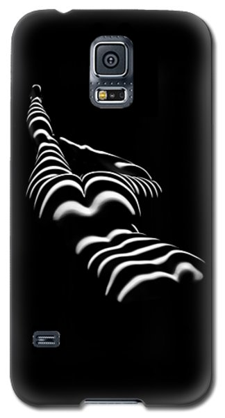 8897-slg Zebra Woman Legs Up Black And White Photograph By Chris Maher Galaxy S5 Case