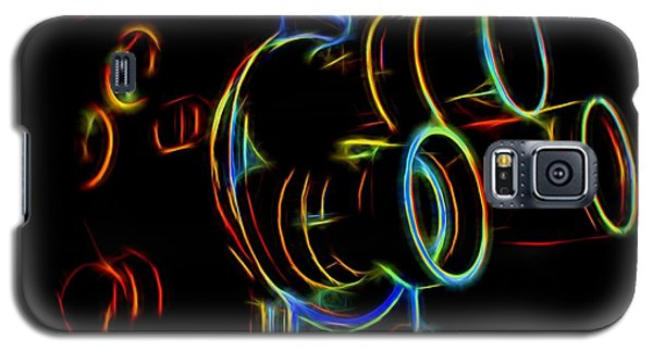 Galaxy S5 Case featuring the photograph 8mm In Neon by Mark Miller