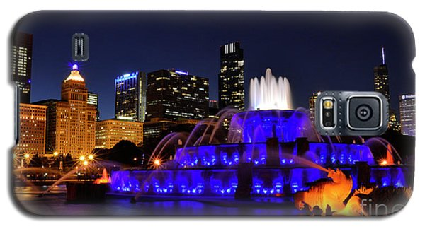 Galaxy S5 Case featuring the photograph 911 Tribute At Buckingham Fountain, Chicago by Zawhaus Photography