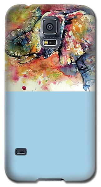 Colorful Elephant Galaxy S5 Case by Kovacs Anna Brigitta